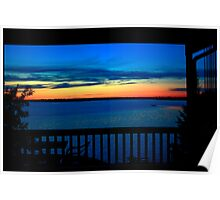 Sunset at Eleanor Lake Poster
