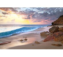 Cupecoy Beach Sunset, St. Maarten  Photographic Print