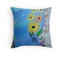Floral fantasies  Throw Pillow