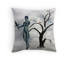 halt! who goes there Throw Pillow
