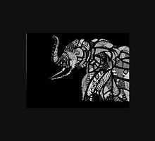 African Elephant in Traditional African Patterns (black) T-Shirt