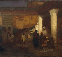 Louis Comfort Tiffany  - Snake Charmer at Tangier by Adam Asar