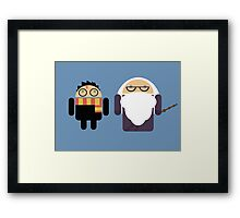 Harry Pottroid and Dumbledroid Framed Print