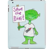 Save the Planet - Protesting Alien Eco Warrior.  iPad Case/Skin