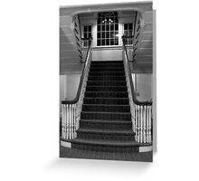 Manor House Staircase Greeting Card