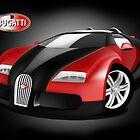 Black and Red Bugatti Veyron by Anthony Thomas