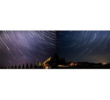 Shared Star Trails Photographic Print