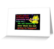 Garfield Cat Attitude Greeting Card