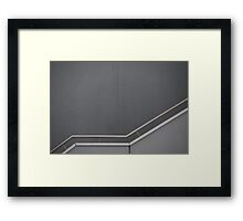 the gray to the top Framed Print