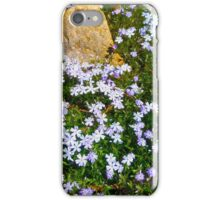Spring Purple flowers, floral art, impressionism iPhone Case/Skin