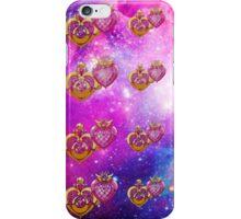 sailor moon power make up lockets galaxy  iPhone Case/Skin