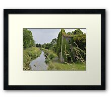 Slow Day on the Canal Framed Print