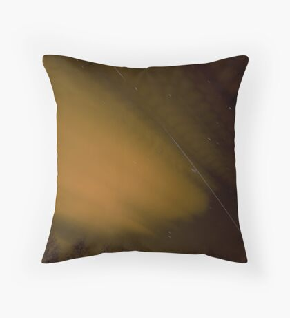 ISS Fly Past Throw Pillow