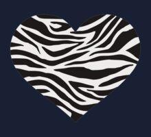 Zebra heart Kids Tee