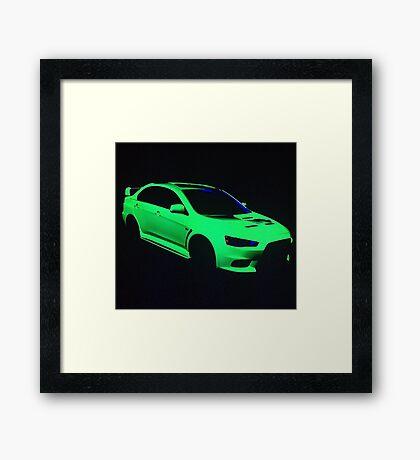 Mitsubishi Lancer Evolution X Framed Print