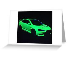 Mitsubishi Lancer Evolution X Greeting Card