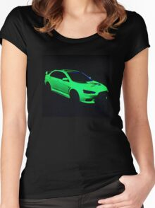 Mitsubishi Lancer Evolution X Women's Fitted Scoop T-Shirt