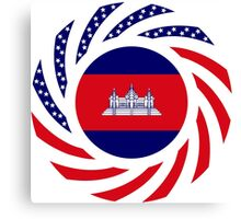 Cambodian American Multinational Patriot Flag Canvas Print