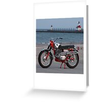 1962 Honda CL72 with Rare Alloy Fuel Tank Greeting Card