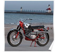 1962 Honda CL72 with Rare Alloy Fuel Tank Poster