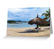 Maribago Bluewater Resort, Cebu, Philippines Greeting Card