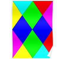 Colored Diamonds Poster