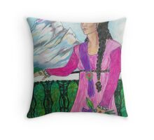 Portrait of First Consort, the Lady Haristal Namsen Throw Pillow