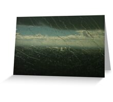 Oporto  rwy with rain Greeting Card