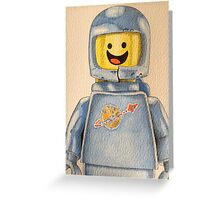 Lego Benny the Spaceman  Greeting Card