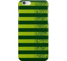 Glitch Stripes (Green) iPhone Case/Skin