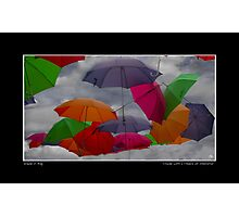 Cloudy with a Chance of Umbrellas Poster Photographic Print