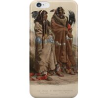 mandan-indians-1843 iPhone Case/Skin
