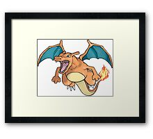 Charizard - Pokemon Framed Print