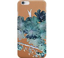 Blossom - Faded orange and grey iPhone Case/Skin