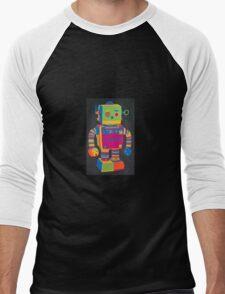 Neon Robot 1 Men's Baseball ¾ T-Shirt