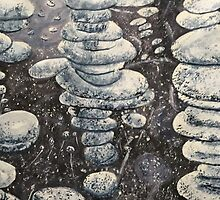 Frosty Blue Bubbles by Gloria Houlne