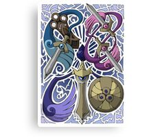 Honedge! Doublade! Aegislash! Canvas Print