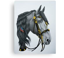 """The King's Horse"" - Friesian Portrait Canvas Print"