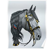 """""""The King's Horse"""" - Friesian Portrait Poster"""