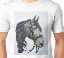 """The King's Horse"" - Friesian Portrait Unisex T-Shirt"