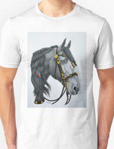 """The King's Horse"" - Friesian Portrait T-Shirt"