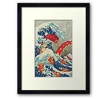 The Great Wave off Kanto - Shiny Version Framed Print
