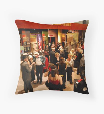 Jazz at the Gem -- a Roaring Twenties party at the American Jazz Museum in Kansas City Throw Pillow