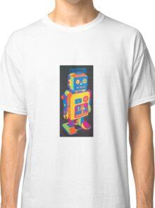 Neon Robot 3 Classic T-Shirt