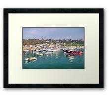 Misty Lyme Regis Harbour - Impressions Framed Print