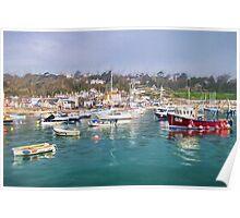 Misty Lyme Regis Harbour - Impressions Poster