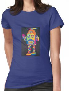 Neon Robot 4 Womens Fitted T-Shirt