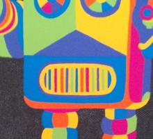 Neon Robot 4 Sticker