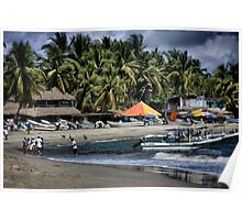 Fishing Boats in Puerto Escondido Poster