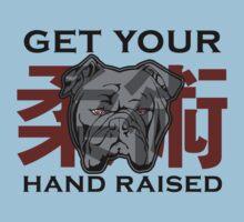 """Get Your Hand Raised"" - Jiu Jitsu Bulldog (on white) Kids Tee"